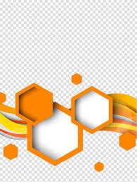 100 Art Deco Shape Orange And White Waves Illustration Hexagon Geometric Shape