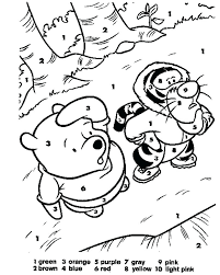 Coloring Pages Numbers 1 20 10 Color Pooh Full Size