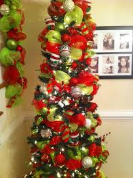 Deco Mesh Decorated Christmas Trees Garland On