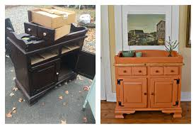 Ethan Allen Painted Dry Sink heir and space a vintage pine dry sink