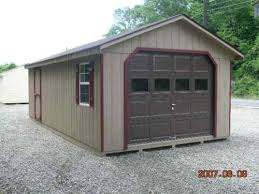 10x20 Metal Storage Shed by Garage Shed 10x20 From Jd Shed New Warranty 100 Wood 100 Amish Ebay