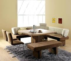 Dining Table With Bench Stylish Seat Back For Room