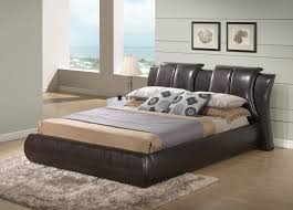 King Platform Bed With Leather Headboard by High Class Leather Luxury Platform Bed New York New York Gf8269
