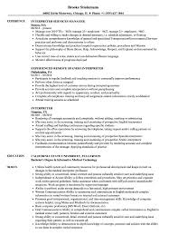 Interpreter Resume Samples | Velvet Jobs 20 Example Format Of Translator Resume Sample Letter Freelance Samples And Templates Visualcv Inpreter Complete Writing Guide Tips New 2 Cv Rouge Cto 910 Inpreter Resume Mplate Juliasrestaurantnjcom Federal California Court Certified Spanish Medical Inspirationa How To Write A Killer College Application Essay Email Template Free Cover Targeted Word Microsoft Stock Photos Hd Objective Statement In Juice Plus
