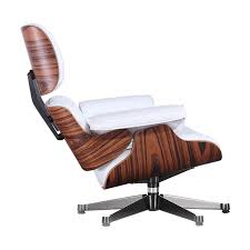 Eames Style Lounge Chair & Ottoman-White   Worldmoderndesign.com Eames Style Lounge Chair Thebricinfo Eames Style Lounge Chair And Ottoman Black Leather Palisander Ottomanwhite Worldmorndesigncom Charles Specialist Hans Wegner Replica The Baltic Post And Brown Walnut Afliving Eames 100 Aniline Herman Miller Century Reproduction 2 Plycraft Style Lounge Chair Ottoman