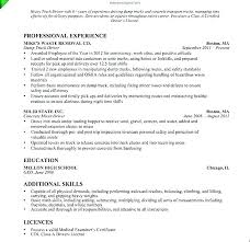 Sample Resumes For Truck Drivers Water Driver Resume Objective