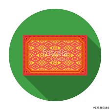 Turkish Carpet Icon In Flat Style Isolated On White Background Turkey Symbol Stock Vector Illustration