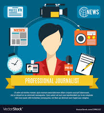 Professional Journalist Background Vector Image