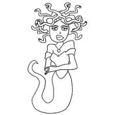 Medusa Monster Mummy From Egypt Coloring Sheet