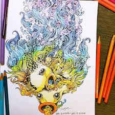 Coloring Book Adult Doodle Invasion Kerby Rosanes 14