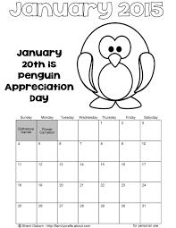 Printable January Calendar Page Crafthubs