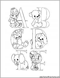 Good Precious Moments Alphabet Coloring Pages 25 For Adults With