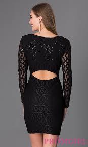 short black lace long sleeve dress promgirl