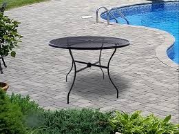 """Arlington House Black Wrought Iron 42"""" Round Outdoor Table, Patio ... Arlington End Table Ding Transitional Counter Height With Storage Cabinet By Fniture Of America At Rooms For Less Drop Leaf 2 Side Chairs Patio Ellington Single Pedestal 4 Intercon Black Java 18 Inch Gathering Slat Back Bar Stools Dinette Depot 6 Piece Trestle Set Bench Liberty Pilgrim City Rifes Home Store Northern Virginia Alexandria Fairfax"""
