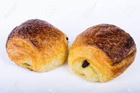 An Chocolate Croissant French Pastries Layer Cake Color Horyzontal On White