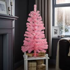 3ft Christmas Tree by 3ft Pink Pink Classic Christmas Tree Departments Diy At B U0026q