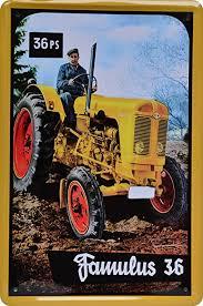 blechschild traktor famulus 36 ps 20 x 30cm reklame retro