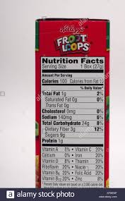 Nutrition Facts Label For Kelloggs Froot Loops Cereal