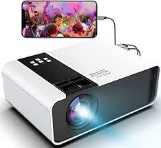 waygoal mini beamer hd 1080p unterstützt tragbarer led projektor 4800 lumen und 200 display heimkinobeamer kompatibel mit