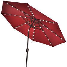 Shed Rain Umbrella Amazon by Best Solar Patio Umbrellas And Umbrella Lights Ledwatcher