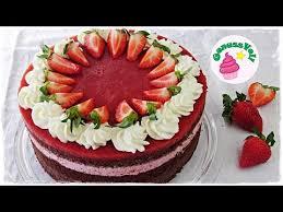 traumhafte erdbeer schokoladen torte erdbeertorte mit schokolade