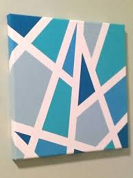 Easy DIY With Masking Tape Canvas And Acrylic Paint
