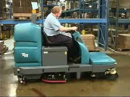 tennant t15 floor scrubber operator training youtube