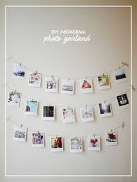 Create Your Own DIY Instagram Photo Garland Using Polaroid Style Prints String And Mini Wooden