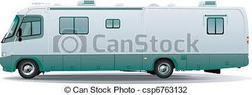 Rv Motorhome Camper Vector