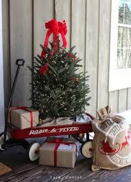 Hobby Lobby Pre Lit Led Christmas Trees by Christmas Tree In Wagon Ciao Holiday Ideas U0026 Decor