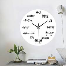 acryl kreative wanduhr mathematik schwarz stumm mathematik gleichungen wohnzimmer fachhochschulen digital designer wanduhr wohnkultur