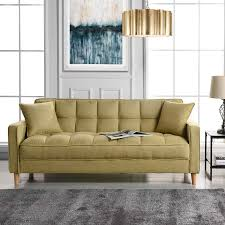 100 Sofa Living Room Modern Amazoncom Linen Fabric Tufted Small Space