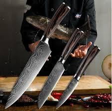 Kitchen Knive Set Japanese Chef Knife Set 3 Pcs Damascus Steel Pattern Kitchen Knives Sets Forged Kitchen Knife Buy At A Low Prices On Joom E Commerce Platform