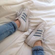 Shoes Adidas White Pastel Blue Vintage Tumblr Superstar