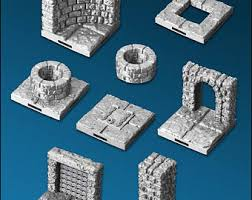 3d Dungeon Tiles Uk by 50 Piece Dungeon Tile Set For D U0026d Pathfinder Up To 133 Sq Ft