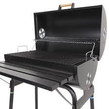 barbecue cuisine azuma black steel barrel bbq barbeque charcoal grill cooking