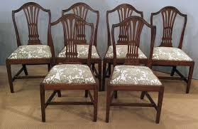 Set Of 6 Antique Mahogany Dining Chairs Distressed Rh Theramiro Com Room Table And Tell City Furniture