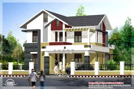 Small Narrow House Plans Colors Storey Home Design With White And Green Color Combinations Also