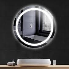 wyctin badspiegel rund led beleuchtung badezimmerspiegel bad spiegel anti fog 70 70 4 5cm