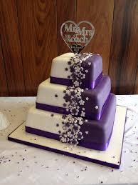 Love Wedding Cakes Cadbury Purple Cake With Bespoke Topper