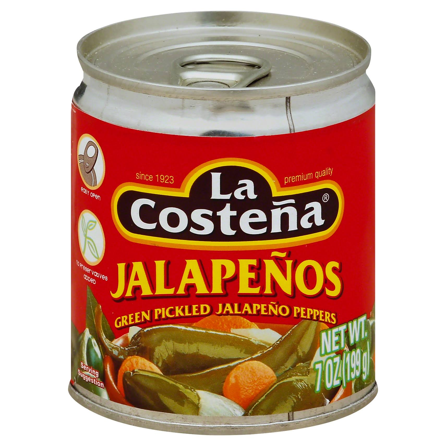 La Costena Green Pickled Whole Jalapeno Peppers - 7oz