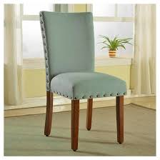 parsons dining chair with nailheads set of 2 sea foam