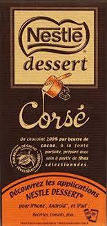 nestlé dessert chocolat blanc tablette 180 g lot de 5 promo