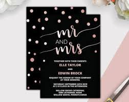 Rose Gold Foil Wedding Invitation Editable PDF Template Chic Blush Confetti Printable Invites