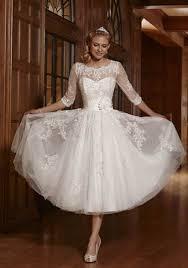 ZYJdress Lace Short Tea Length Wedding Dress Bridal Gowns At Amazon Womens Clothing Store