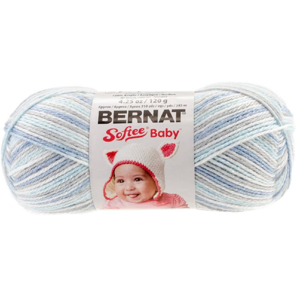 Bernat Softee Baby Yarn - 120g, Blue Flannel
