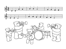 Kids Under 7 Musical Instruments Coloring Pages