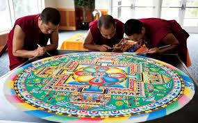 Tibetan Monks Painstakingly Create Incredible Mandalas Using Millions Of Grains Sand