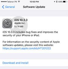Download iOS 10 3 3 Final IPSW Links For iPhone iPad iPod touch