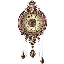Aero Snail LARGE Retro Style Vintage Royal Line Silent High End Luxury Metal Wood Wall Clock With Swinging Pendulum